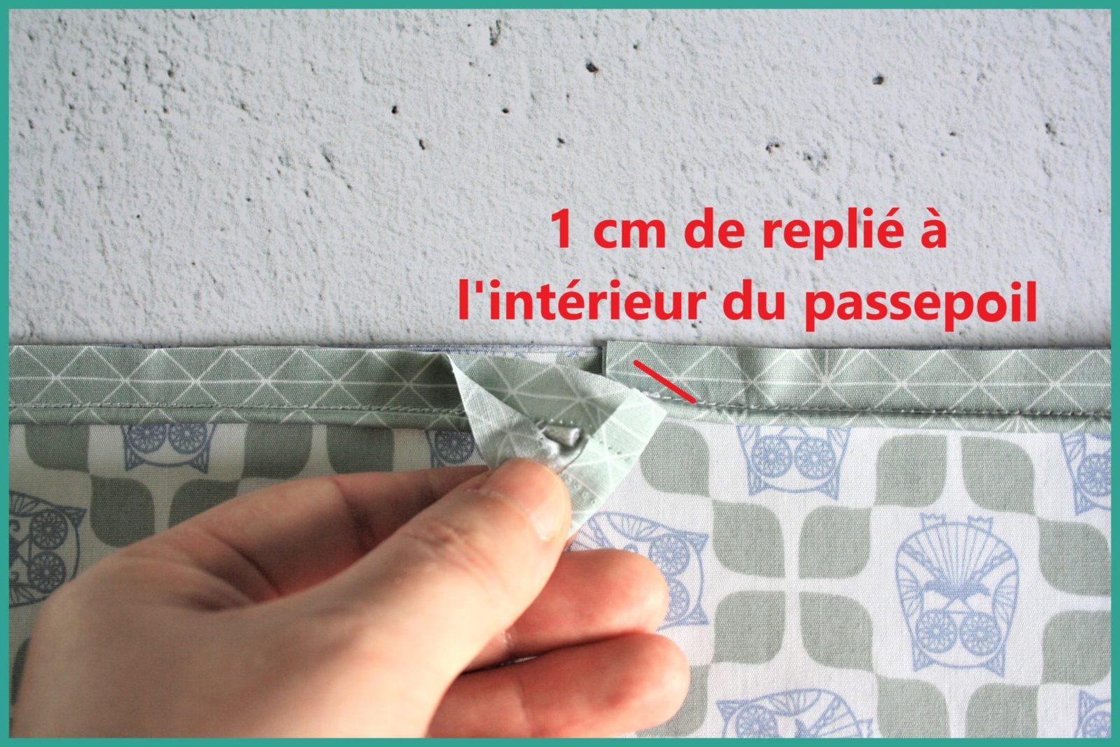 Le raccord de passepoil