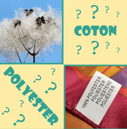 Coton - polyester - blog couture - la ptite main